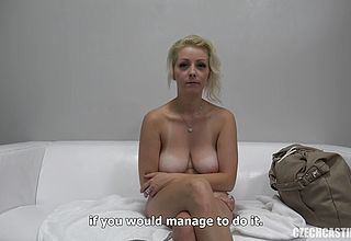 Charming ash blonde cougar Gets insatiable on Her 1 st casting