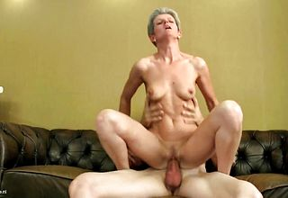 Mature Bony nymph fellate and Screw youthful Fellows hard on