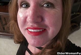 American Milf Terri Gets highly aroused In nylon Tights