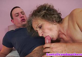 Ginormous grannie Ravaged Before Degustating jizz
