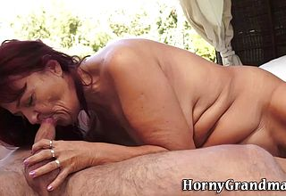 Grannie torn up Outdoors