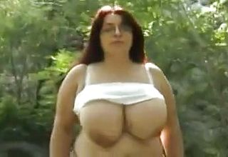 Plus size mature outside