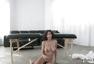 Supposed massage turns Into a Hooter Cumming fuck a thon