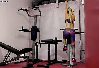 Mature Super bitch gets Screwed while working Out In the gym